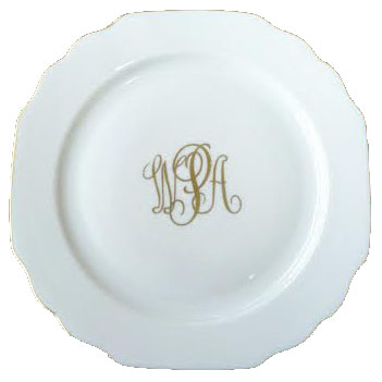 $64.00 Georgian Monogram Salad Plate